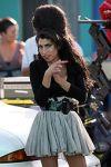 Amy Winehouse con su peinado Colmena