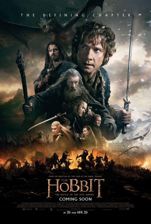 El Hobbit - la batalla de los cinco ejércitos poster
